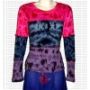 Tie-dye patch rib cotton full Tshirt