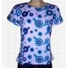 Printed short sleeves rib cotton t-shirt