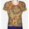 Buddha Mandala short sleeves rib cotton t-shirt
