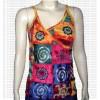 Choli design sleeves-less rib cotton Tshirt