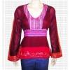 Stripes lace sari top