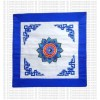 Embroidered Yantra cushion cover