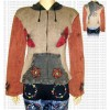 Butterfly design hooded rib top