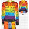 Rainbow hooded jacket
