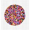 Felt balls round mat - 44 cm
