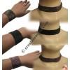 Plain pote necklace-bracelet set