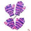 Stripes woolen cover glove