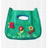 Crochet decoration felt hand bag