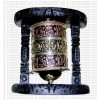 Wooden stand wall hanging prayer wheel