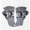 Woolen half finger gloves