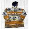 Mixed color woolen jacket5