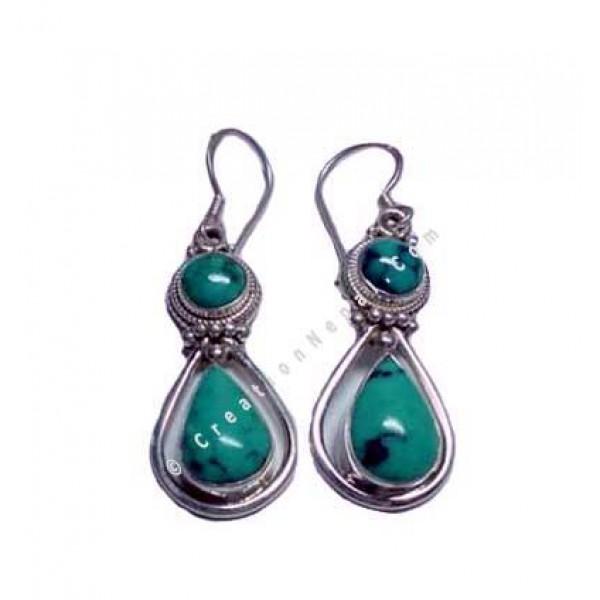 Double stone Earring