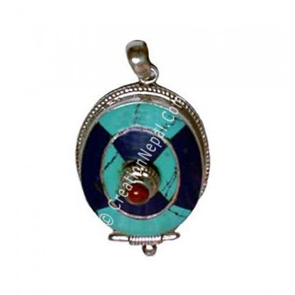 Oval shape Tibetan pendant