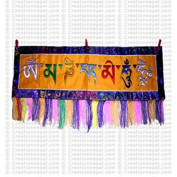 Om mani Padme Hum wall hanging 3