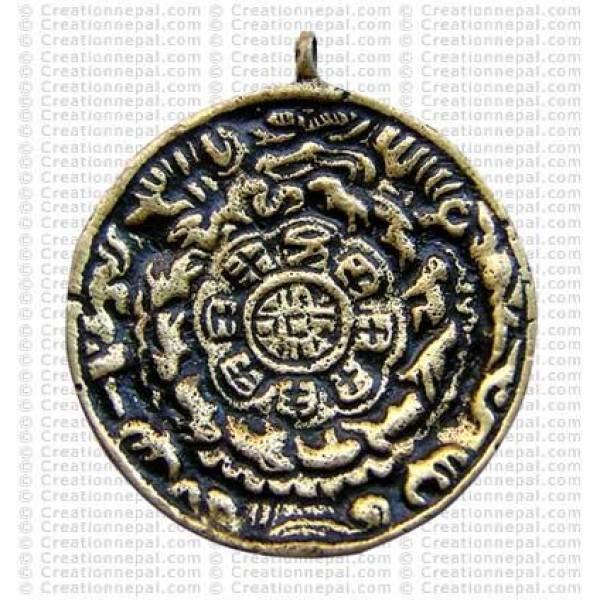 Brass round calendar