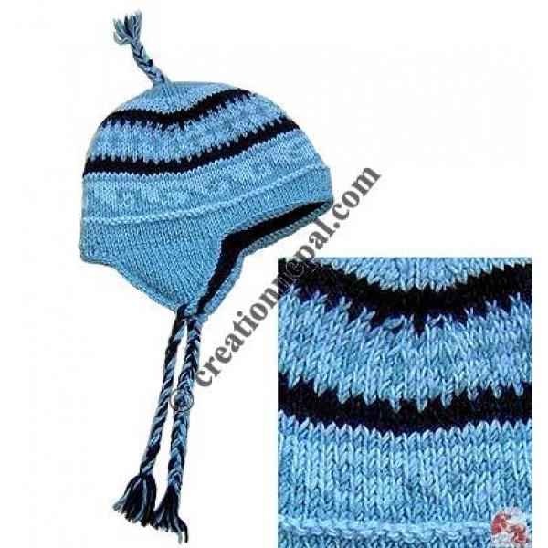 Woolen ear hat10