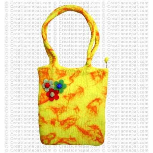 Tri-flower felt bag