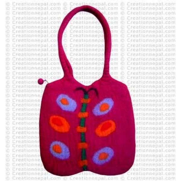 Butterfly felt bag