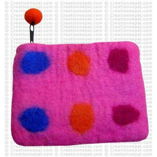 Six dots felt coin purse