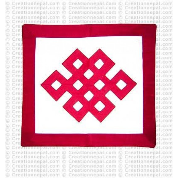 Endless knot cushion 2