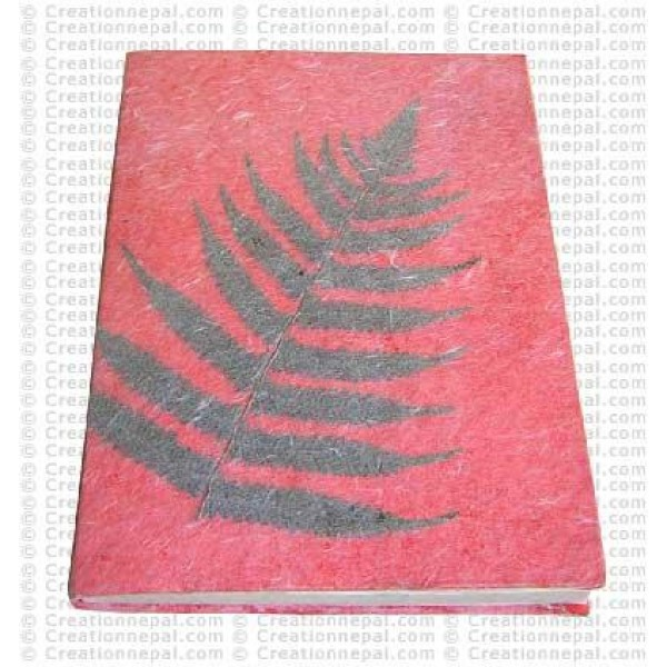 Leaf inlay notebook