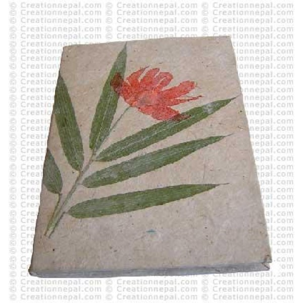 Bamboo leaves inlay notebook