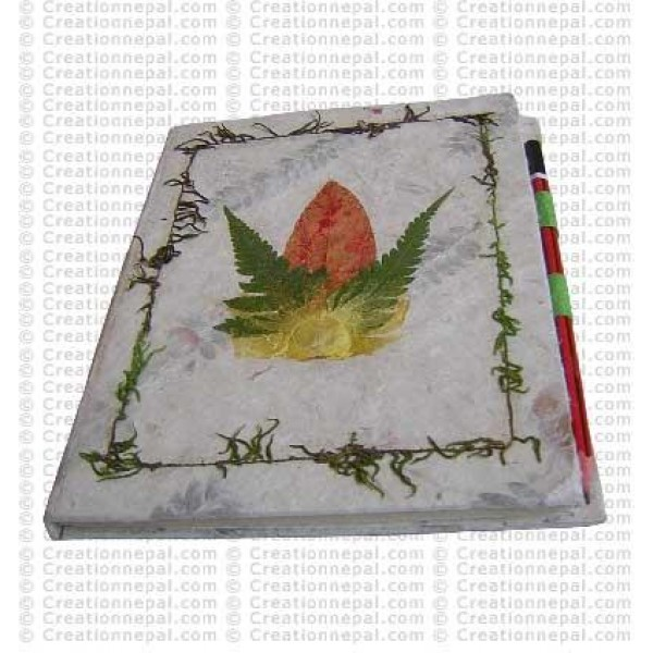 Flower-leaf patch Notebook