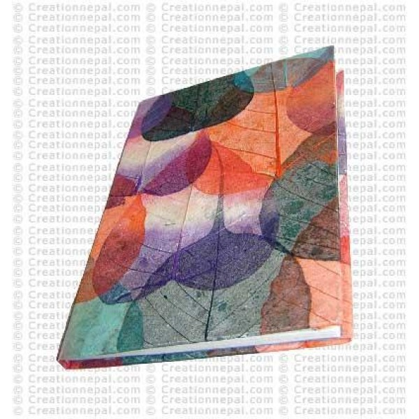 Colorful Bodhi leaves notebook