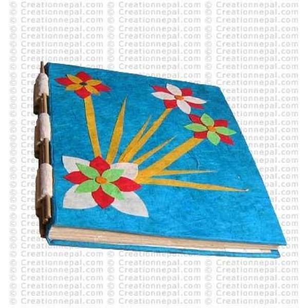 Paper-Flower patch notebook