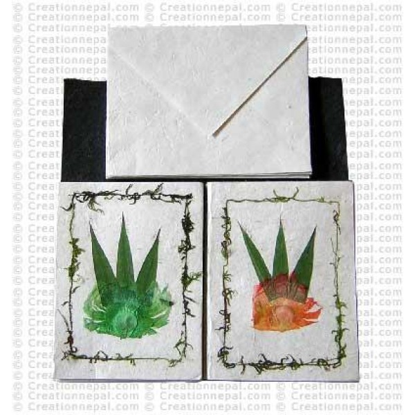 Bamboo leaves design cards
