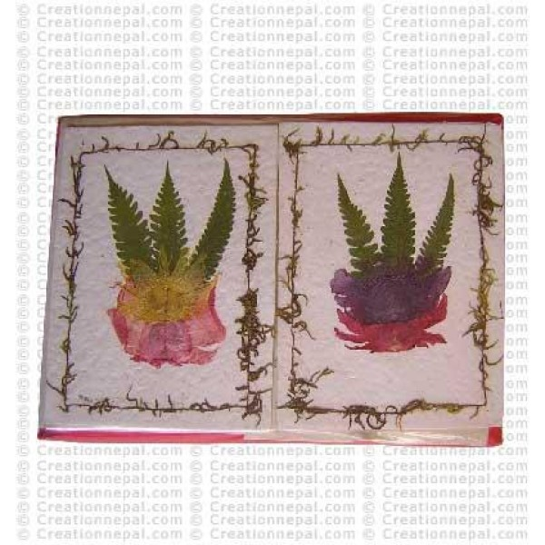 Leaves and flower design cards