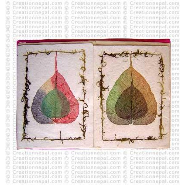 2-size Bodhi leaves design cards