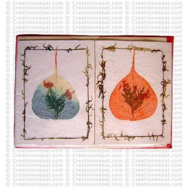 Dhupi leaves inlay design cards