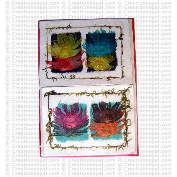 Double flower patch design cards