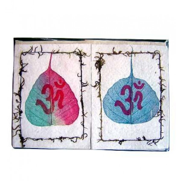 Bodhi leaf and Om design cards