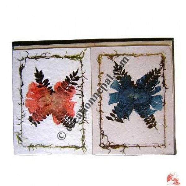 Cross leaves and flower design cards