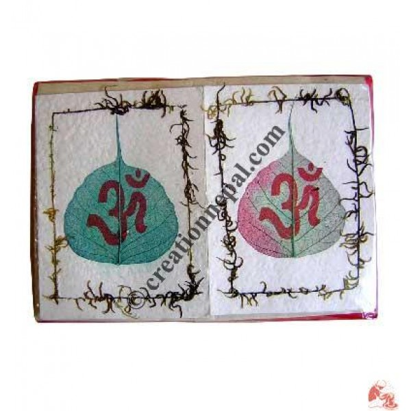 Bodhi leaf and Om cards
