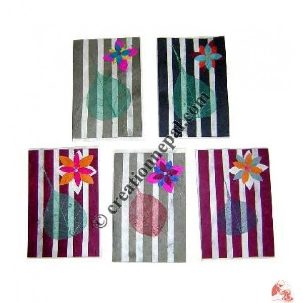 Vertical stripes cards