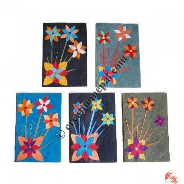 Paper flower cards (set of 5)