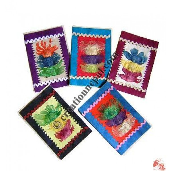 3-flower with lace cards (set of 5)