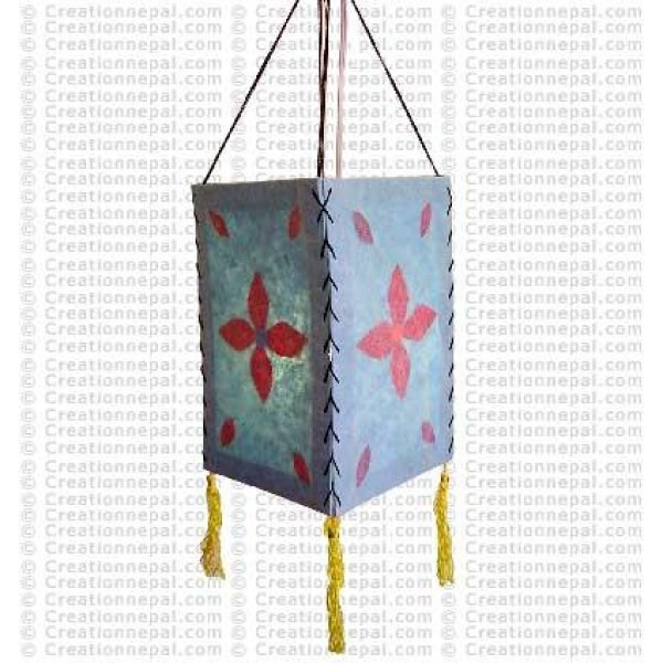 Paper flowers inlay Lamp-shade