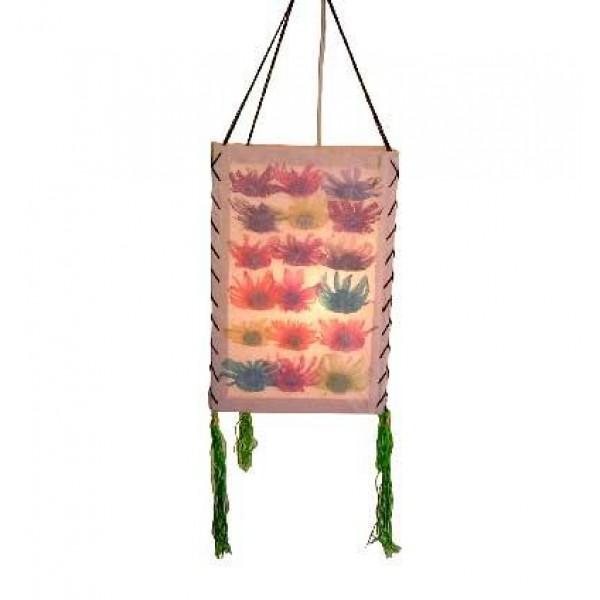 Dry flowers inlay Lamp-shade