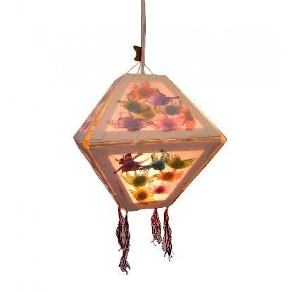 Dry flower inlay diamond shape Lamp-shade