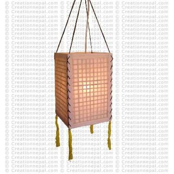 Bamboo-net inlay Lamp-shade