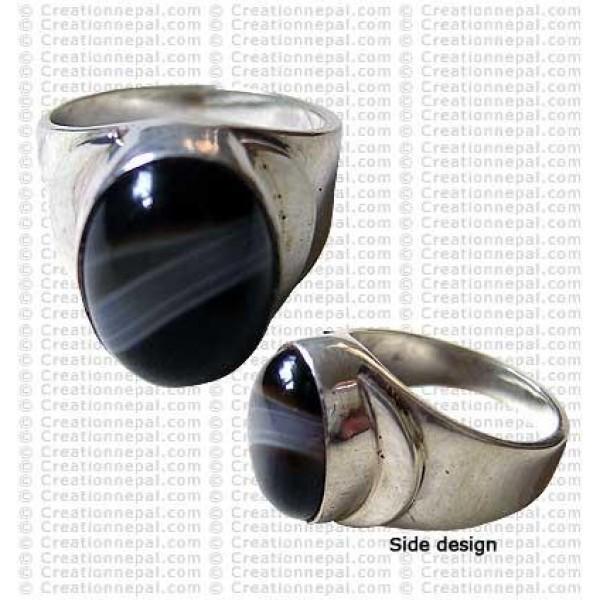 Moon design finger ring