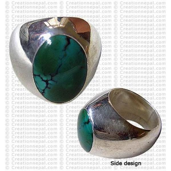 Turquoise finger ring 16