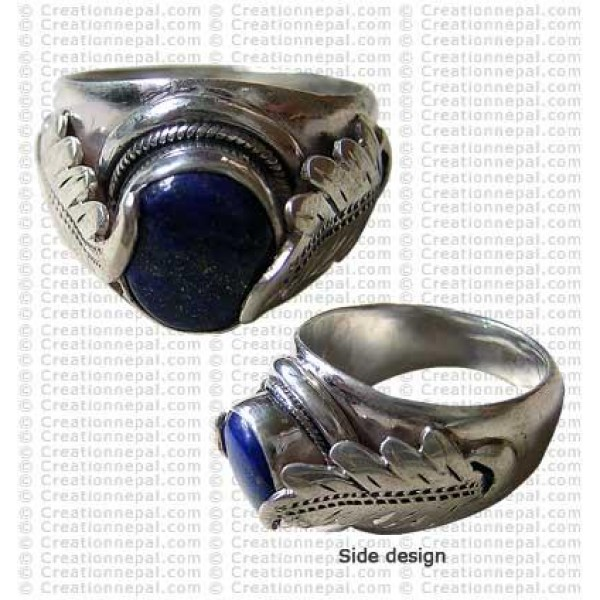 Leaf carved finger ring 2