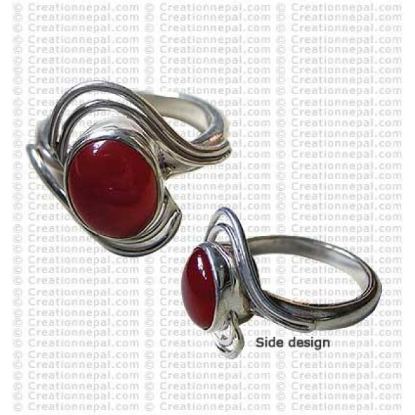 Wire design finger ring