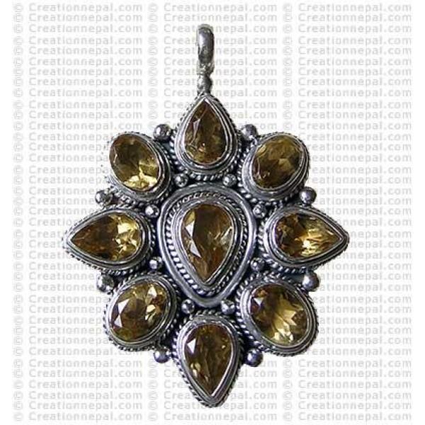 Multi stone pendant 1