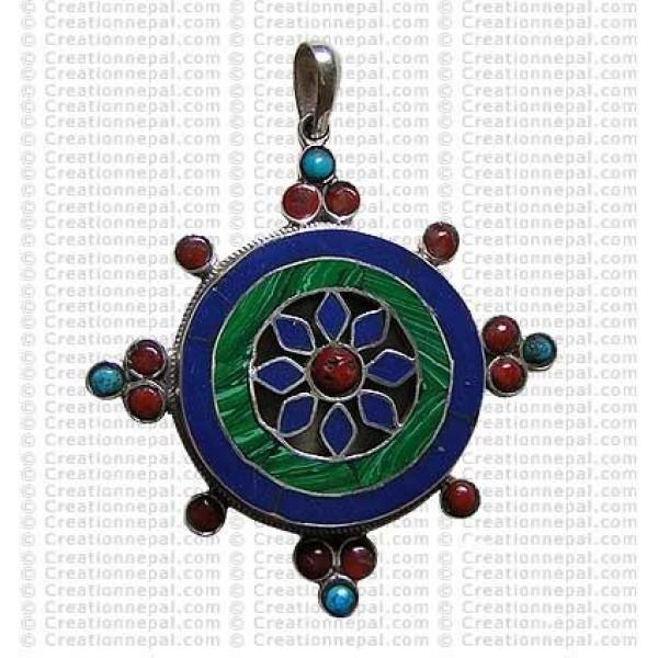Kalchakra mandala pendant